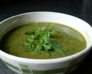 Суп из кресс-салата и картофеля