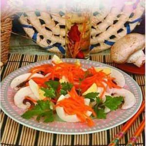 Салат из шампиньонов с яйцом